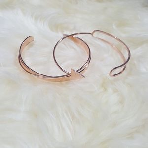 Jewelry - 💎 Rose Gold Tone Double Band Cuff Bracelet